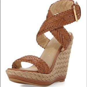 Stuart Weitzman Elixir Braided Wedge Sandal